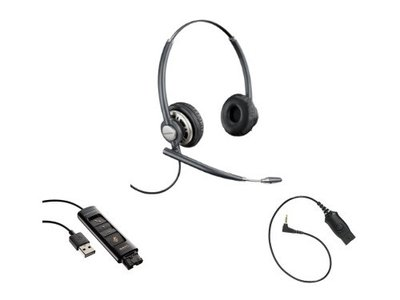 Plantronics EncorePro HW720 + DA80 audio-processor + MO300 aansluitkabel
